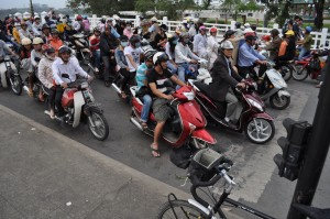 One of the pictures we laughed about this afternoon--all the motorcycles in Vietnam!