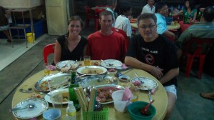 Enjoying dinner with a new-found friend in Malaysia. Ong met us on our way into town and showed us some true Malaysian hospitality!