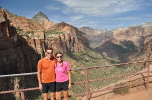 View from the Canyon Overlook hike--definitely a park highlight.