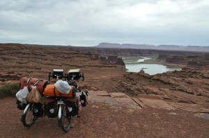 View of the Colorado River as it flows into Lake Powell.