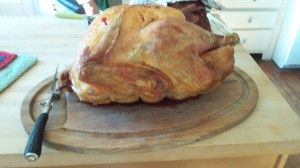 A fantastic turkey--not easy to find in other countries! Glad we could enjoy it at home.