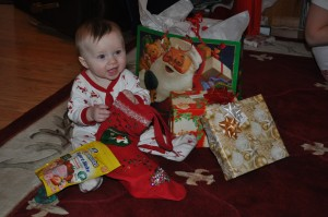 Baby's first Christmas... she was the star of the show, of course!