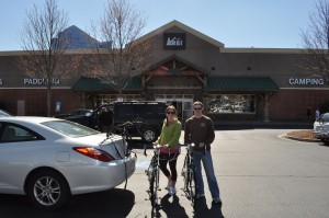Here we are with our bright and shiny new Surly bikes at the Perimeter REI in Atlanta.