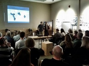 Our February REI presentation, with lots of eager travelers and cyclists in attendance.